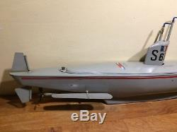 Sous-marin GIL S63 en tôle Jouet vers 70 No Canot JEP JRD Navy Bing Carette CIJ