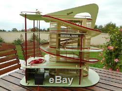 Superbe GRAND GARAGE station service électrique CHARLYS 1955 bon état depreux