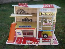 Superbe Garage Station Service Citroen Total Depreux 1973 Pour 1/43