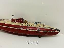 T3171 Rarissime Sous-marin Mecanique Jep Tole Corsaire 918 Trefle 4 Feuille