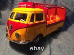 TIPPCO COMBI VW LIVRAISONS COCA COLA 23 cm jouet ancien tole