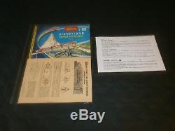 TRAIN MONORAIL DISNEYLAND, SCHUCO 6333 G, 1ère VERSION 1961, COMPLET, VIDEO
