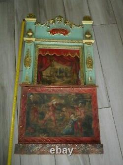 Théâtre de Guignol 1920 ancien, castelet 92 cm x 48 cm original