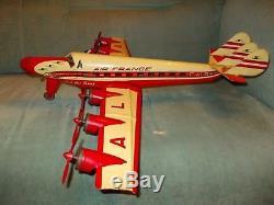 Tin Toy Jouet Ancien Rare Avion Joustra En Tole La Croix Du Sud Air France Alba