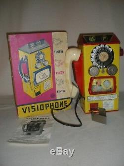 Tintin Rare jouet ancien Visiophone de 1960
