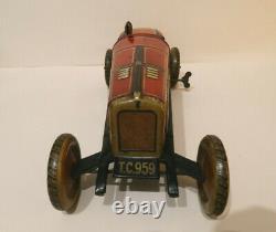 TippCo Voiture de Course Mecanique 35 Cm Tole Litho Superbe Etat 1925 Germany