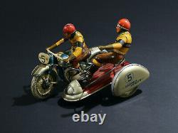 Tippco Moto Sidecar Jouet Ancien Germany Des Annees 50