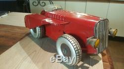 Tracteur rouge Charles Rollet roue grise