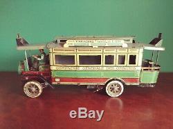 Très Rare 1910s Charles Rossignol CR Trocadero Omnibus Jouet Ancien Tole Autobus
