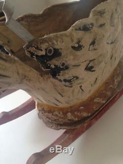 Très Rare Cocotte À Bascule En Carton Bouilli 1900-30 Pour Petit Enfant Poule