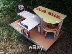 Tres Rare Garage Station Service Azur Nil 1960 Etat Exceptionnel 1/43