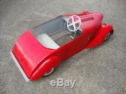 Tres Rare Voiture A Pedales Eureka Biplace 38 Complete 1938 Pedals Car Tretauto