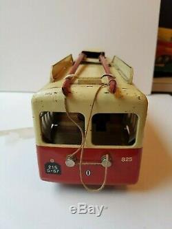 Trolley bus tramway Joustra jouet ancien en tole