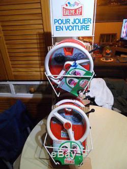 Vintage toys with display unit ancien jouet presentoir Jeu Rally JEP AUTO TRAIN