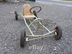 Voiture A Pedales / Karting Enfant Epoque 1950/60 En Metal