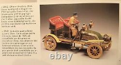 Voiture Bing 4 places ouvertes de 1904 Jouet en tôle 23cm No Carette