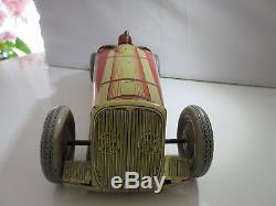 Voiture De Course C. R. Charle Rossignole Bugatti Original Jouet Ancien