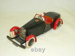 Voiture MECCANO Mécanique avec Pilote Tres Bel ETAT 1930's