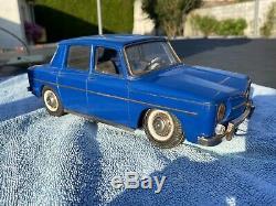 Voiture Renault 8 Joustra Mecanique 30 CM Tole Jep Cij