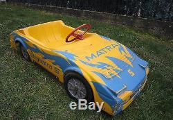 X256 VOITURE A PEDALES MATRA BAGHEERA S MG MORELLET GUERINEAU PLASTIQUE 106 cm