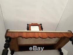 XIXe Napoléon III Coiffeuse de table toilette bois noirci acajou Poupée