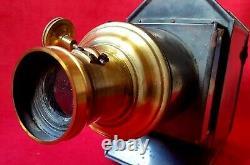 XXe Ancienne Lanterne Magique & Coffret pour Ecoles Instruments Scientifiques