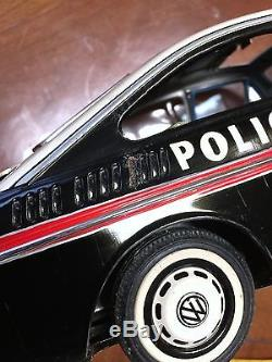 Yanoman Toys Vw1600 Police Car Made In Japan Old Tin Toys Car
