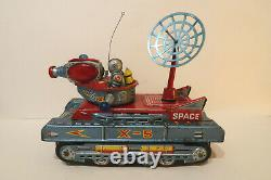 Yonezawa Moon Patrol Vehicle X-5 Space Tank Battery Operated Japan 1961